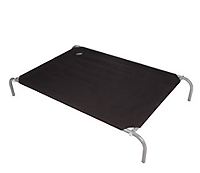 Elevated dog beds are fantastic for keeping your dog cool & reduce the risk of pet heat stress.